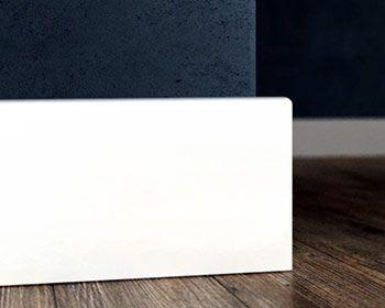 Białe Listwy MDF lakierowanie - listwa mdf biała 10 cm.