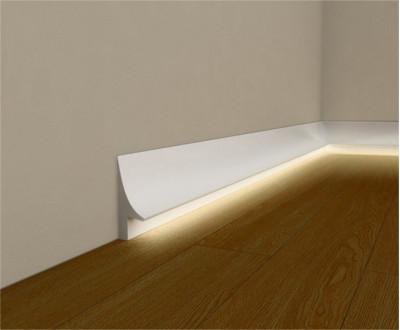 Listwy przypodłogowe z oświetleniem LED - Oświetlenie przypodłogowe